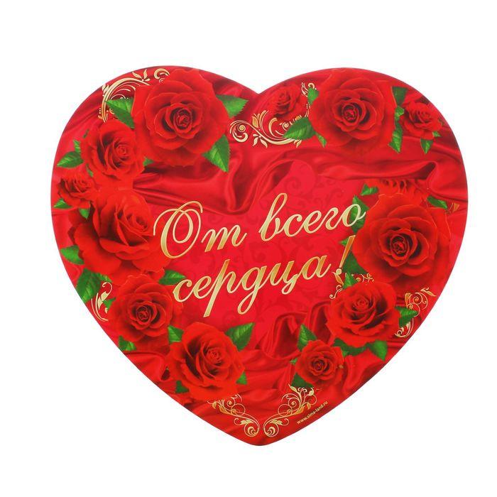 """Подставка для торта """"От всего сердца"""", сердечко"""