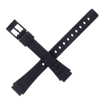 Ремешок для часов, 12 мм, 18 см, чёрный