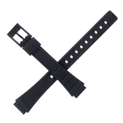 Watch band 12 mm, black, 18 cm