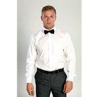 Сорочка мужская BENAFFETTO SS 14301-1 S белая, р-р 43-176-182