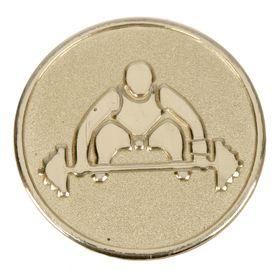 Жетон для медали 'Тяжелая атлетика' золото Ош