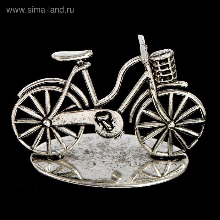 """Декор металл """"Велосипед"""" 4,5х3,8 см"""