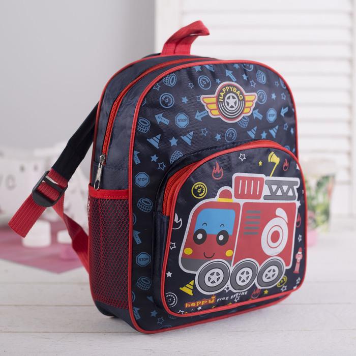 Рюкзак детский, отдел на молнии, наружный карман, 2 боковые сетки, цвет синий
