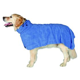 Полотенце-попона Trixie, S: 40 см, микрофибра, синий Ош