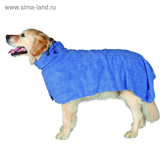 Полотенце-попона Trixie, M: 50 см, микрофибра, синий