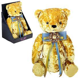 Мягкая игрушка «Медведь БернАрт», цвет золотой