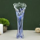 Vase coral white-blue-manganese