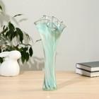 """Vase """"Wave"""" green-manganese"""