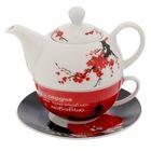 """Чайный набор """"С любовью"""", чайник 350 мл, кружка 200 мл, блюдце 15 см"""