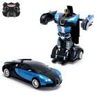 Робот-трансформер радиоуправляемый «Автобот», световые и звуковые эффекты, работает от аккумулятора, цвет синий