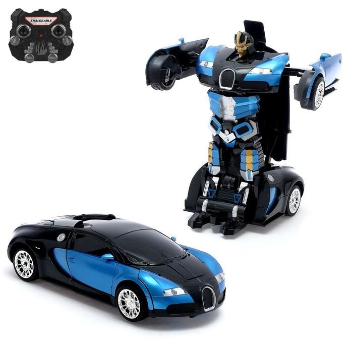 Робот-трансформер радиоуправляемый «Автобот», световые и звуковые эффекты, работает от аккумулятора, цвета МИКС