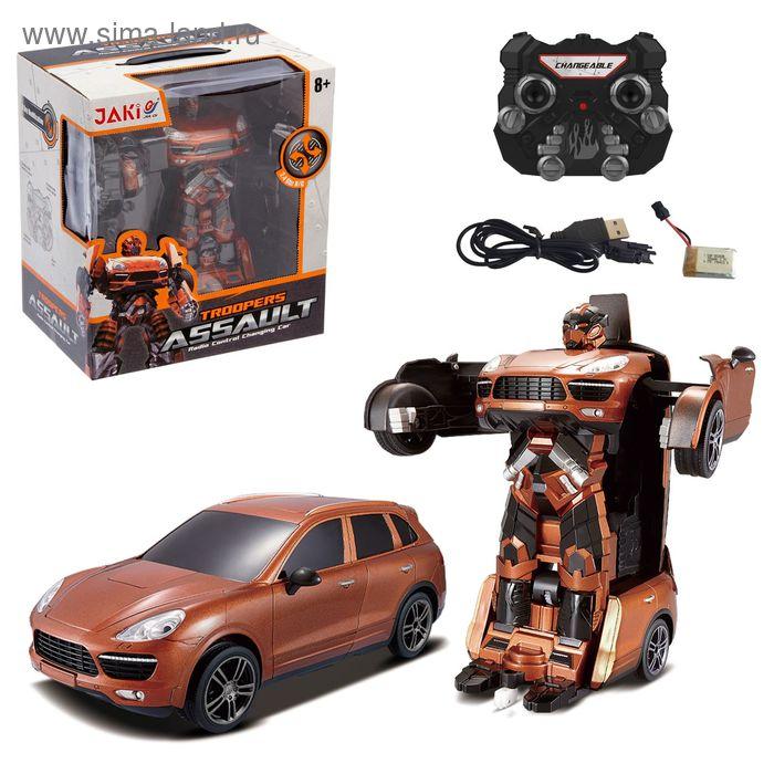 """Робот радиоуправляемый """"Автобот"""", трансформируется, с аккумулятором, заряд от USB"""