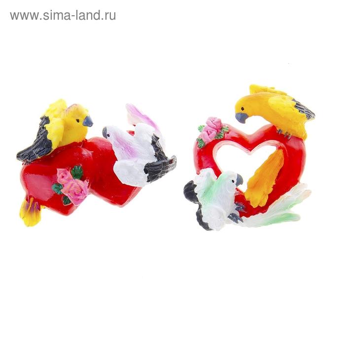 """Магнит """"Попугай с сердечками"""", МИКС"""