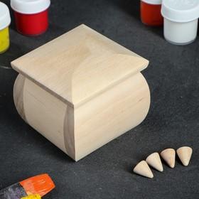 Шкатулка заготовка для декупажа, 8х8х7,5 см