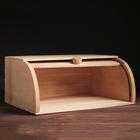 Хлебница ролетная, деревянная