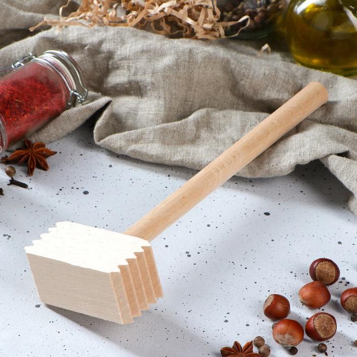 Молоток деревянный, квадратный, 27 см