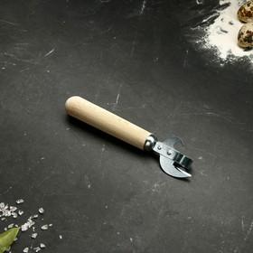Нож консервный, с деревянной ручкой, 16 см