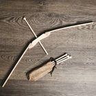 """Сувенир деревянный """"Лук и 4 стрелы"""", 70 см"""