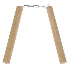 """Сувенир деревянный """"Нунчаки"""", светлый, 21 см, массив бука"""