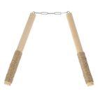 """Сувенир деревянный """"Нунчаки"""", мотаный, 26 см, массив бука"""