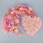 Набор для украшения автомобиля: 4 ленты на капот, сердце на решётку радиатора, розовый
