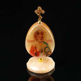 """The egg on the stand """"St. Nicholas"""", Selenite"""