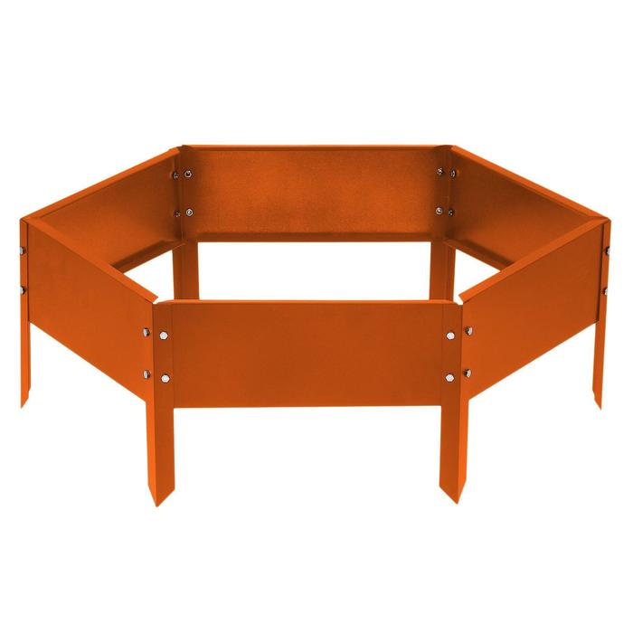 Клумба оцинкованная, d = 100 см, h = 15 см, оранжевая, Greengo - фото 1685870