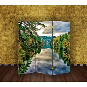 "Ширма ""Лесная река"", 160 × 150 см"