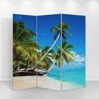 """Ширма """"Пальмы на пляже"""" 150 × 160см"""