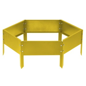 Клумба оцинкованная, d = 100 см, h = 15 см, жёлтая