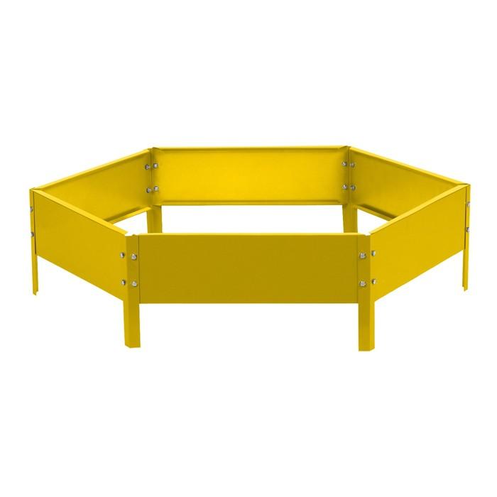 Клумба оцинкованная, d = 100 см, h = 15 см, жёлтая, Greengo - фото 1685946