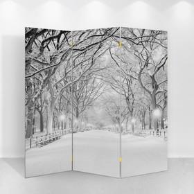 "Ширма ""Зимний парк"", 160 × 150 см"