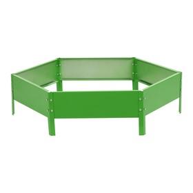Клумба оцинкованная, d = 80 см, h = 15 см, зелёная МИКС
