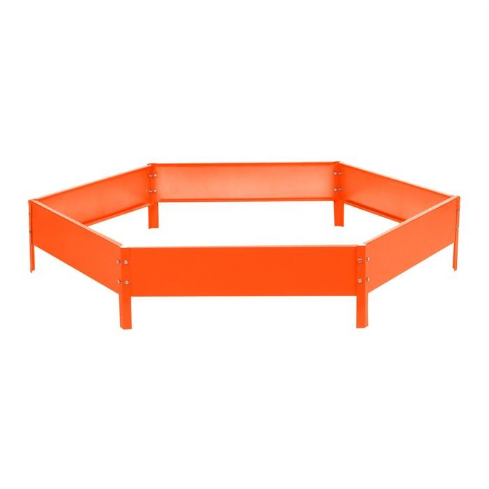 Клумба оцинкованная d=140 см, h=15 см, оранжевая