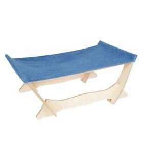 Лежанка-гамак, 37 х 60 х 23 см, мебельная ткань, микс цветов