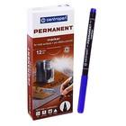 Маркер перманентный 1.0 мм Centropen 2536 синий светостойкий