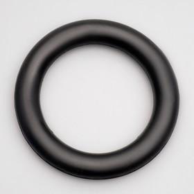 """Игрушка """"Цельнорезиновое кольцо"""", большое, чёрное, 16 см"""