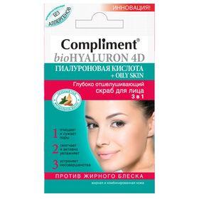 Скраб для лица 3 в 1 Compliment отшелушивающий, для жирной и комбинированной кожи Ош