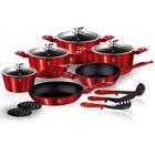 Набор посуды Burgundy Metallic Line, 15 предметов