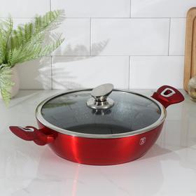 Сковорода с крышкой Burgundy Metallic Line, 28 см
