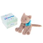 """Мягкая игрушка """"Кот"""", 30см, светло-коричневый/бирюзовый"""