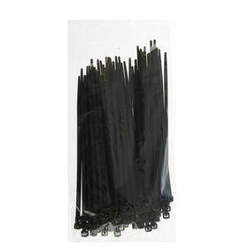 Хомут-стяжки пластиковые, 3.6х150 мм, чёрные, упаковка 100 шт.