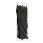 Хомут-стяжки пластиковые, 4.8х300 мм, чёрные, упаковка 100 шт.