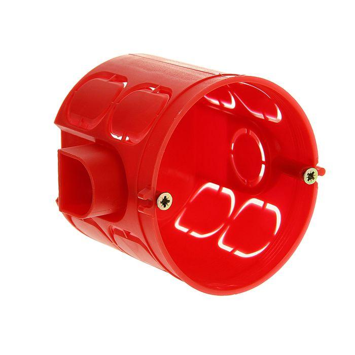 Коробка установочная HEGEL КУ1102, 68x62 мм, для сплошных стен