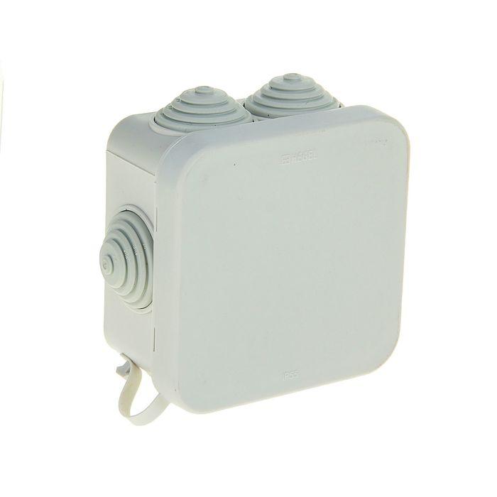 Коробка распределительная HEGEL КР2605, 70x70x40 мм, IP55, для открытой установки