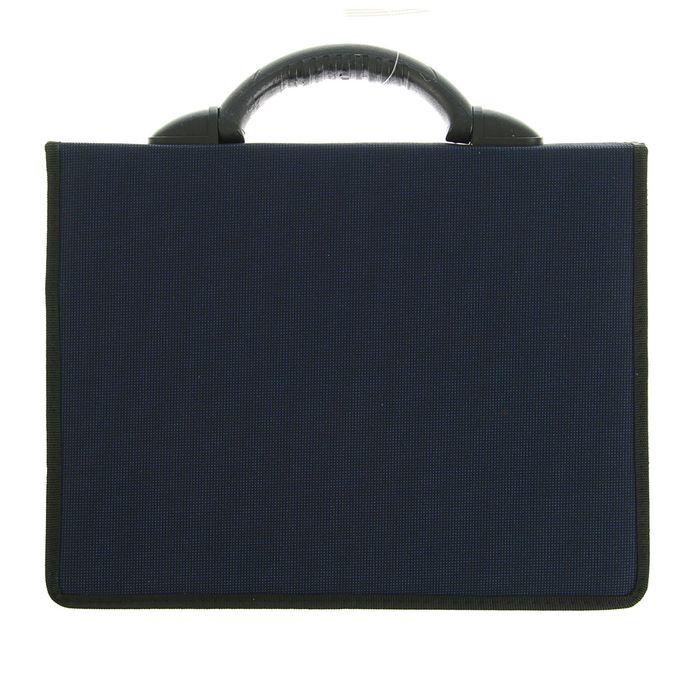 Портфель деловой «Приморск», 350 х 260 х 10 мм, ткань, синий - фото 405920994