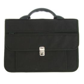 Портфель деловой ткань 380 х 270 х 150 мм, «Павловск», чёрный