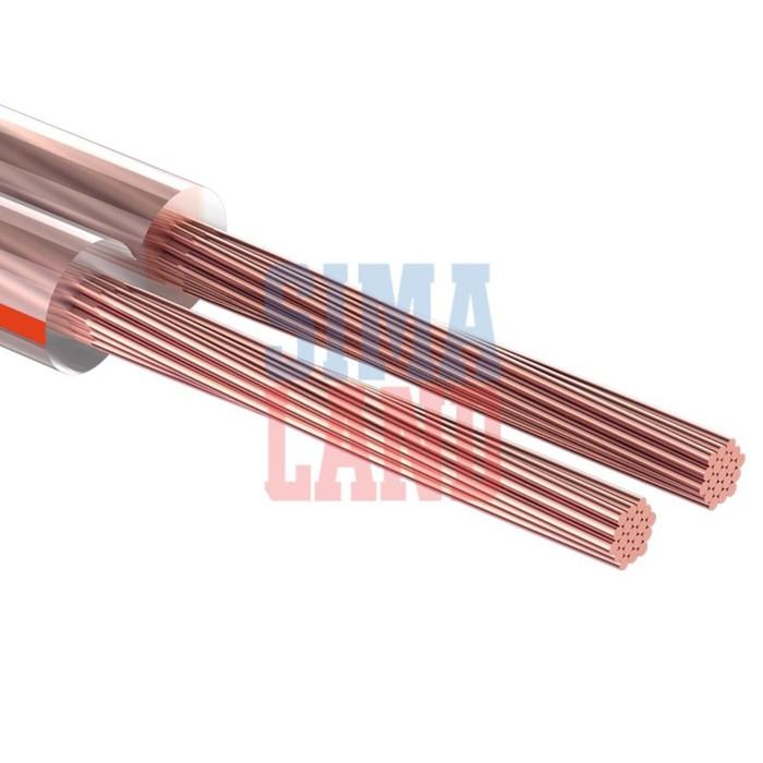 Акустический кабель Cablexpert CC-TC2x0,75-50M, прозрачный, 50 м, на катушке
