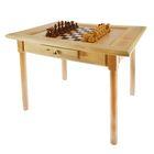 Шахматный стол с ящиком (80х60х72 см, игровое поле 36х36 см, король h=11.5 см)