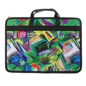 Пaпка с ручками, текстильная, А4, 330х240х50 мм «Тихвин» Абстракция